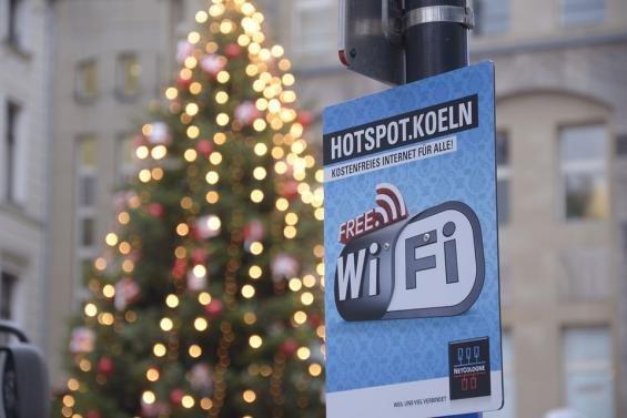 Köln: Kostenloses WLAN am Dom-Weihnachtsmarkt * Infos zum Log  in*