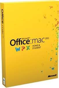 Office for Mac Home and Student 2011, Licence Card, 1 User, für 35,73£ inkl. Versand @amazonUK, idealo:99€