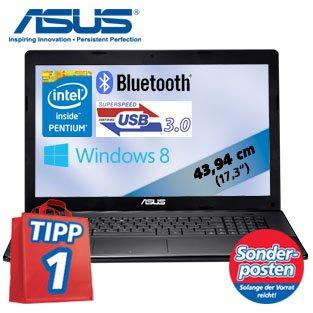 """ASUS 17 """" Notebook F75A-TY271H mit Intel Pentium 2020M Dual-Core (2 x 2,4 GHz), 6 GB-DDR3 RAM, 750-GB-SATA-Festplatte, USB 3.0, Bluetooth®4.0, Windows 8 64 Bit"""