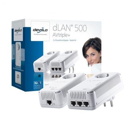 Devolo dLAN 500 AVtriple+ Starter Kit (2 x 500 Mbit Powerline Adapter) für 99 € inkl. Versand @ Redcoon (Ersparnis: 12%)