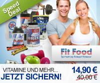 DD Speed Deal: 14,90€ statt 40€  (63% Rabatt) bei fitfood.com - Nahrungsergänzung für Sportler