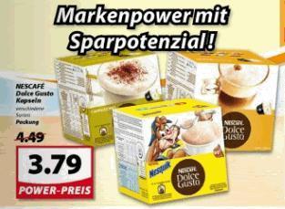 (offline) @Famila-Nordwest: Nescafe Dolce Gusto Kapseln 3,79€