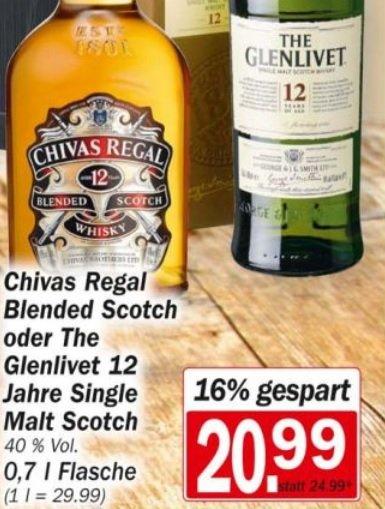 [Lokal Aachen?]HIT Markt  Glenlivet inkl. 2 Gläser - 20,99€