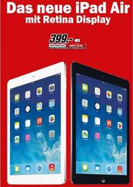 iPad Air 16GB WiFi 399€ Lokal [Mediamarkt Bonn] Neueröffnung & Viele Angebote