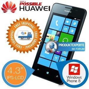"Huawei Ascend W2 Windows Phone schwarz, 4,3 "" Display 1,4 GHz Dual-Core @ iBOOD.de"