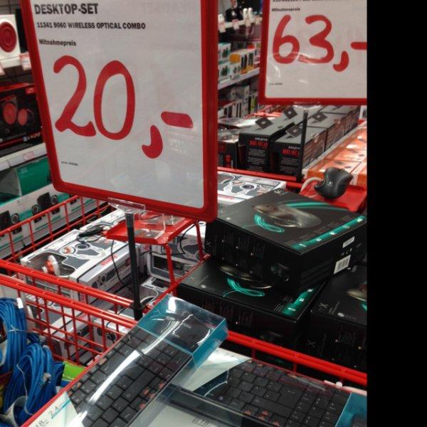 [Evtl. bundesweit] Berlin Media Markt Rapoo 9060 Wireless Tastatur und Maus in schwarz - von 29,99€ auf