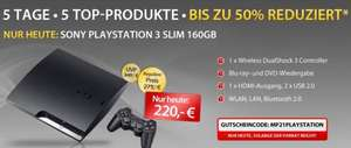 MeinPaket.de - PS3 Slim 160 GB