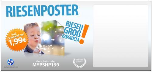 Fotoposter 60x40cm (Hochglanz) für 1,99 EUR inkl. Versand (nur 3 Tage)
