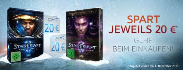 Bis zu 65 % auf Blizzard-Spiele WOW 5€/10€ , Starcraft II 20€, Starcraft II HotS 20€