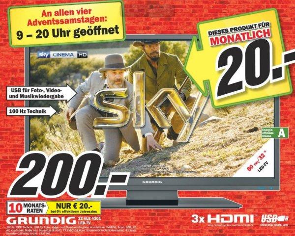 Grundig 32 VLE 4301 200€ Lokal[Mediamarkt Oststeinbeck]