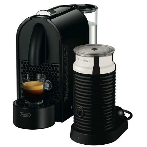 [MM Dresden ]   DeLonghi EN 110.BAE Nespresso U Kapselmaschine / 0,8 l Wasserbehälter / mit Aeroccino3 Milchaufschäumer   / schwarz