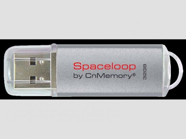 CNMEMORY 32GB USB 2.0 Spaceloop Silver @saturn.de 14,99€