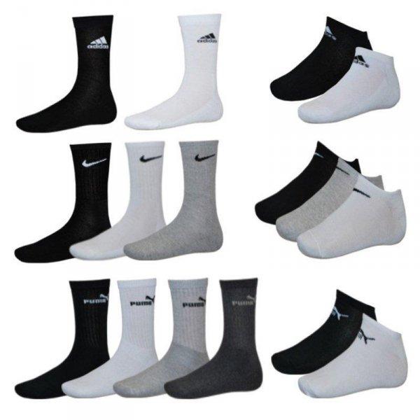 Adidas / Nike / Puma 9er Pack Sneaker Socken oder Sportsocken  @ebay.de