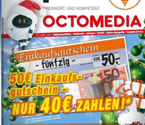 [Lokal Bühl, Rastatt octomedia] 50 EUR Geschenkkarte für 40 EUR (max 2 Stück)