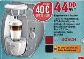 Tassimo Amia (T20) in 3 Farben für 44,- Euro (mit GS: 4€) im Globus Isserstedt