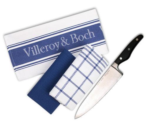 Villeroy & Boch Kochmesser (Professional Line) + 3 Geschirrtücher (Home Elements ) @ebay-Deltatecc  für 14,99€
