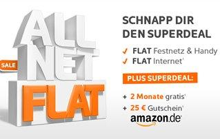 2 Monate Simyo Allnet Flat + 25€ Amazon Gutschein für nur einen Euro!