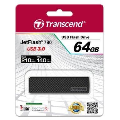 Transcend Extreme-Speed JetFlash 780 64GB USB-Stick mit 140MB/s schreiben, 210MB/s lesen und 30 Jahren Garantie im Cyber Monday für 48,90