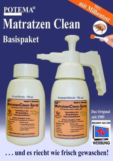 Matratzen Clean Spray, Anti Milben Spray, Geschenkkarton mit Milbentest!