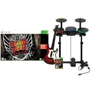 Guitar Hero: Warriors of Rock inkl. Schlagzeug, Gitarre, Mikrofon - X360, PS3, Wii - 66,97 Euro bei Amazon