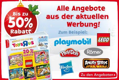 Viele Angebote bei Toys'r'us 20 - 50% On- und Offline