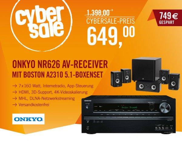 Onkyo TX-NR626 und Boston A 2310HTS Heimkinoset im Cybersale