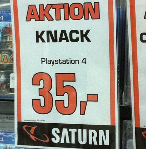 [Saturn Wuppertal] Knack PS4 für 35€