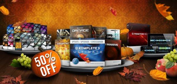 Native-Instruments Thanksgiving: bis zu 50% auf Software (z.B. Traktor Pro)