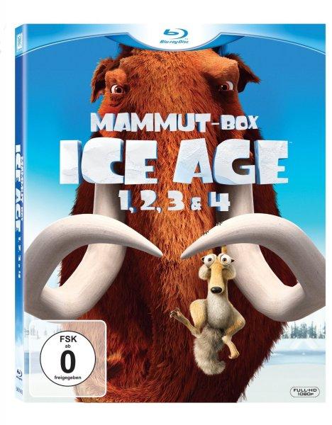 Cyber Monday - [Blu-ray] Ice Age 1-4 Mammut Box für 19,97€ @Amazon