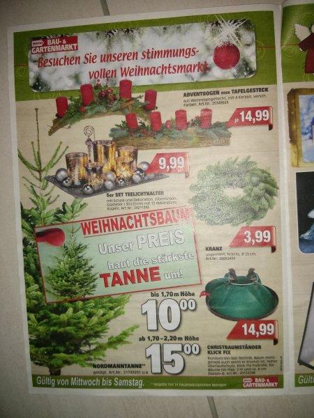 Mydealz Weihnachtspack Baum (Nordmann) und Ständer (NIKO Baumfix Aqua o. Klick Fix) ab 25€ Lokal Baunatal/Kassel NIKO Baumfix Aqua oder