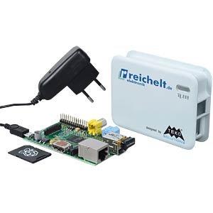 Raspberry Pi Komplettpaket - Pi + SD-Karte + Software + WLAN + Gehäuse + Netzteil