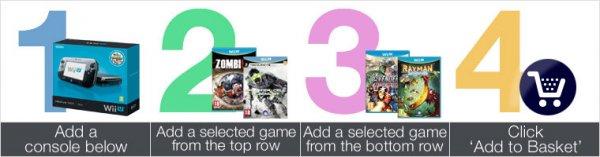(Amazon.co.uk) Wii U Premium Pack inkl. 2 Spiele (mehrere zur Auswahl) für umgerechnet 283,37€