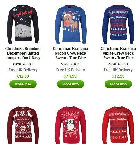 Viele Weihnachtspullover für 15,60€-18€ inkl. Versand