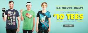 Threadless - T-Shirts $10-15  Hoodies $29.95