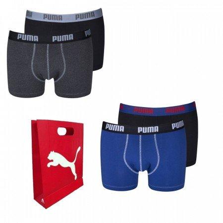 4 x Puma Boxershort in verschiedenen Farben plus Geschenktüte für 19,95€