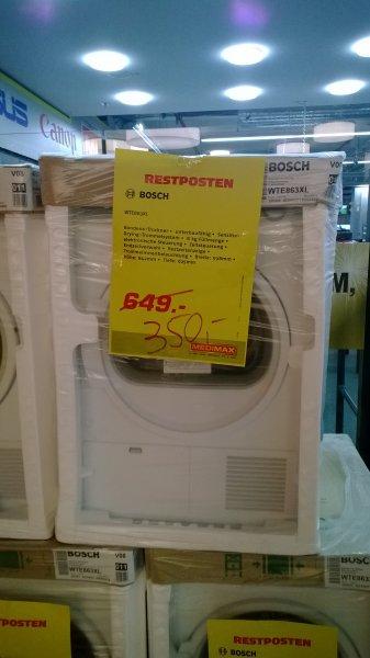 [Lokal Medimax HH-Rahlstedt] Bosch wte863xl 8kg Kondenstrockner