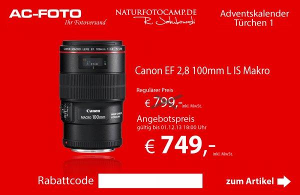 Canon EF 2,8 100mm L IS Macro