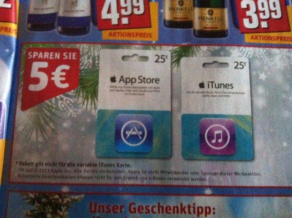 iTunes 25€ Karten für 20€ ab 2.12. bei REWE