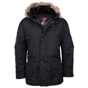 Geographical Norway Alaska Winter Jacke Kapuze Fell Schwarz