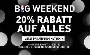 NBA STORE EU - Big Weekend 20% Rabatt auf alles + 15% vom Newsletter