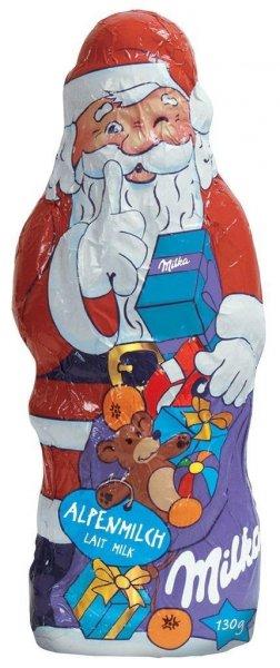 Milka Weihnachtsmann Alpenmilch 130g + Leerdammer für jeweils 1,11€ bei Lidl
