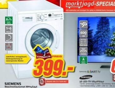 [LOKAL - Berlin] Siemens Waschmaschine 399 € bis 5.12.