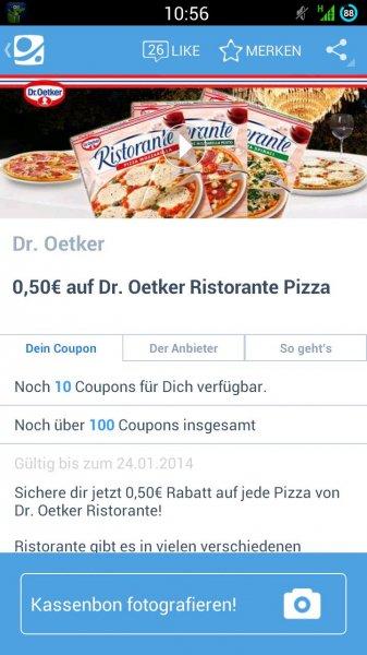 [COUPIES] 0,50€ auf Dr. Oetker Ristorante Pizza