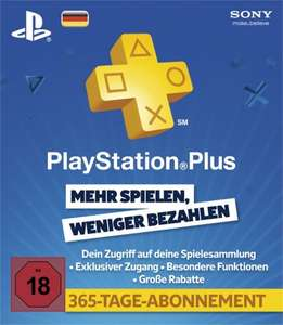 PS Plus 12 Monate für 43,90€ [DE]