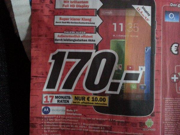 [Lokal Neubranendburg] Motorola Moto G 170€