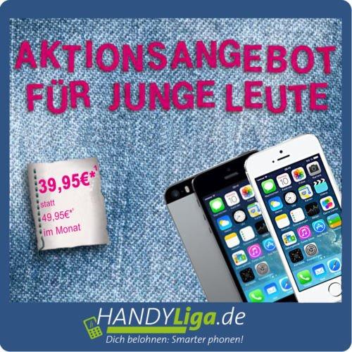 Iphone 5s 32Gb für Junge Leute nur 69€ zuzahlung monatlich 39,95 €/Monat, für andere ab dem 7. Monat 49,95€ Zuzahlung nur 29€ TELEKOM COMFORT M | 16GB ohne Zuzahlung! +15.000 Meilen