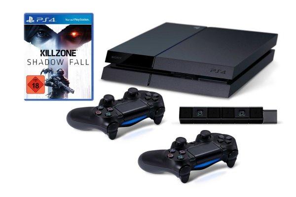 PS4-Bundle mit PS4, Killzone, 2 Controller und Kamera für 499,00 bei Amazon