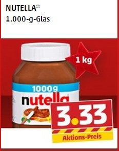 1000g Nutella für 3.33 Euro