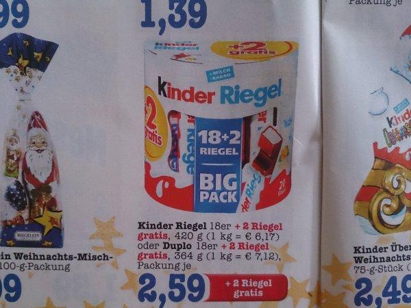 [Lokal? Baden] Edeka/Scheck-In: 20er Pack Kinderriegel oder Duplo für jeweils 2,59 €