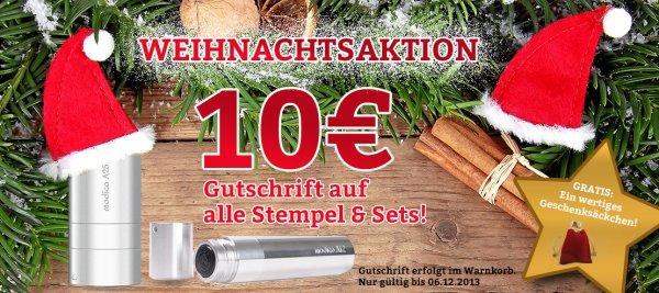 Golfballstempel mit 10€ Weihnachtsrabatt